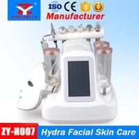 7in1 Água máquina hidra facial dermoabrasão aspirador LED PDT máscara de oxigénio Jet Máquina BIO RF Face Lift Ultrasonic cuidado da pele