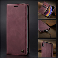 Caseme Magnetic Case for Samsung Note 20 Ultra S20 Plus Leather Flip Wallet Cover for iPhone 12Pro Max 11 × XR