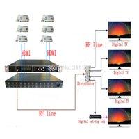 Freeshipping 1080p Multi HD-MI do DVB-C / DVB-T / ATSC / ISDB-T Enkoder Modulator Cyfrowy TV Modelulator QAM RF VEK-4782I-16/20