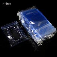 200pcs / lot 4 * 6cm clair PVC anti-oxydation Zip Lock bijoux affichage pochette rescellable bijoux poly sacs de conditionnement en plastique pour perles Jade