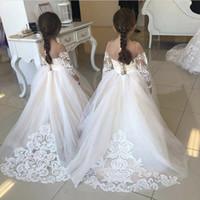 Vestidos de Pago de Glitz para niñas Liñas Envío gratis Vestido de Daminha Infantil Un Hombro Flor Muchacha Vestidos Vestidos de Bola