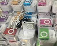 Mini Klip MP3 Çalar Ekransız 8 Renkler Destek Mikro SD TF Kart Kulaklık Kulaklıklar, USB Kablosu + Hediye Kutusu DHL Nakliye