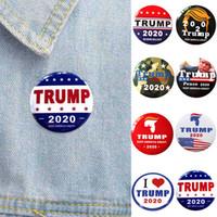 8 stili Donald Trump 2020 Badge Stelle ammissione biglietti raffreddano Poker Spilla cappotto Jackets Zaino perni del risvolto del botton Ventilatori da regalo