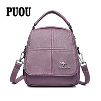 2020 Multifunction Soft Leather Small Backpack Sac a Dos Fem...
