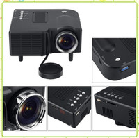 UC28 UC28 + Portable LED Projecteur 3D Cinema Theater USB / SD / AV HDMI Entrée VGA Mini Multimédia Divertissement Pocket Beamer Projecteurs MQ12