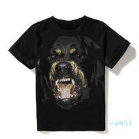 Mens Shirt Fashion-Luxury Men Shirts T 3D Hip Hop Rottweiler Women Designer Print Sxlxg