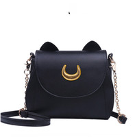 Buena calidad Samantha Vega 20y Limited Sailor Moon Bag Ladies Bag Black Cat White Moon Moon Messenger Crossbody Messenger de mujer