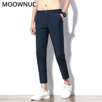Nono pantaloni pantaloni maschili Slim Fit Groomsman Suit Pantaloni Business casual Longs Fashion Wedding Brand MOOWNUC Suit