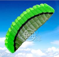 Détails sur New Toys Outdoor de ligne double Parafoil parachute Stunt Sport Green Beach Kite