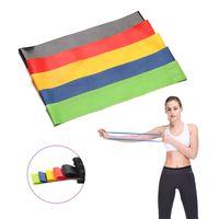 5 ألوان اليوغا المقاومة البولنجر داخلي معدات اللياقة البدنية بيلاتيس الرياضة التدريب تجريب الجمنازيوم ممارسة اللاتكس المطاط حلقة مطاطا باند