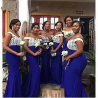 Plus Size White Lace Vestidos de Noiva Africano para Dridesmaids 2021 Barco Pescoço De Manga Curta Bainha Própria de Honra Vestidos De Promoção