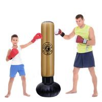 Estresse 1.6M New inflável Pressão de perfuração Torre saco de boxe Standing Formação Relief Bounce Back Sandbag para adultos Crianças