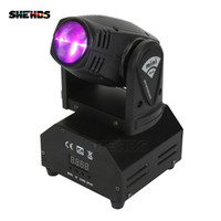 Sıcak Satmak mini LED 10 W Nokta Işın Hareketli Kafa Işık Lyre DMX512 Sahne Işık Stroboscope Ev Eğlence Için Profesyonel Sahne