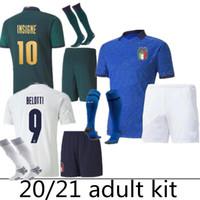 20 홈 블루 축구 유니폼 insigne immobile 2020 2021way 제 3 키트 이탈리아 르네상스 저지 망 유니폼 성인 벨토티 축구 셔츠