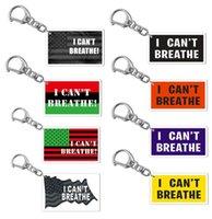 13style لا أستطيع التنفس سلسلة المفاتيح رسالة طباعة فلويد الأزياء حزام مفتاح الاكريليك مفتاح السيارة سلسلة قلادة مجوهرات هدايا حزب صالح GGA3449