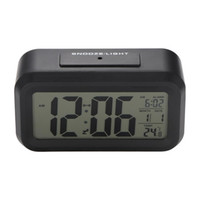 إنذار البطارية مكتب الاستشعار الجدول ساعة رقمية ساعات على مدار الساعة الطلاب LCD عرض كبير قيلولة بعد الظهر درجة الحرارة الاطفال الخفيفة على مدار الساعة