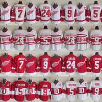 24 Chris Chelios Detroit Red Wings 9 Gordie Howe 5 Nicklas Lidstrom 13 Pavel Datsyuk 7 Llnosay Classic Jersey