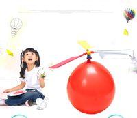 Fête décoration fête voler ballon jouet bricolage avion ballon hélicoptère avec sifflet novely enfants jouets jouet éducatif