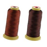2 Rolls Rosso Bronzo + Marrone di nylon dei capelli Tessitura Discussione Spool parrucca per Fare di trama di estensioni dei capelli Trecce