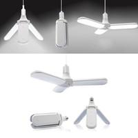 45W faltbare Garage Licht-E27 LED-Birnen-super helle faltbare Lüfterblätter Winkel einstellbar Deckenleuchte Home Energiesparlampen