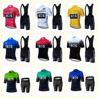 Ineos Team Велоспорт Короткие Рукава Джерси Нагрудник Шорты Шорты 2020 Новые Мужские Топы Мужчины Спортивная Одежда для горных велосипедов U20030610