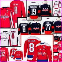 Nuovo 8 Alex Ovechkin Washington Capitals Jersey Mens 19 Nicklas Backstrom 43 Tom Wilson 70 Braden Holtby 77 T.J. Oshie Hockey Maglie