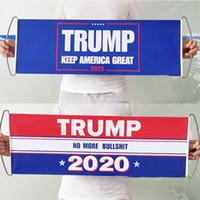 الوجهين دونالد ترامب العلم باليد ترامب العلم مزدوجة مطبوعة الوفير إبقاء أمريكا العظمى راية العلم 2020 أعلام الرئيس الانتخابات WX9-1835