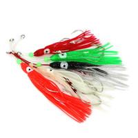 11 cm Pulpo suave Trolling señuelos de pesca Big Game Faldas de calamar Luminoso cebos de pesca Atún Bass Jigging Rigs