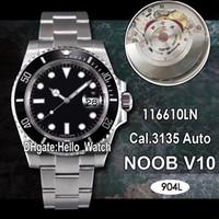 N F V10 SA3135 116610 116610LN Automatische Keramik Bezel Black Dial 904L Stahl Herrenuhr Beste Edition Sapphire Blue Hairspring Hello_watch