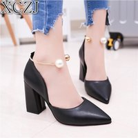 XCZJ 2019 spring sexy fish mouth hollow Roman sandals thick ...