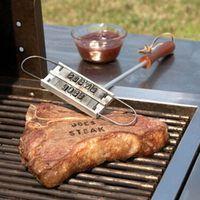 أدوات للشواء الشواء branding الحديد مع للتغيير 55 خطابات النار وصفت بصمة الأبجدية في الشواء كوك ستيك اللحوم أداة dbc DH1095