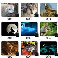 Gaming Souris Pad coutume, Prédateur Wildlife Wolf Caoutchouc. Grand tapis de tampon de souris
