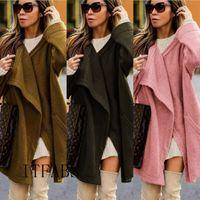 Heiße Frauen-Winter Fluffy Damen Cardigan Coat Top Jacke Fleece Pullover Pullover Plus-Mantel