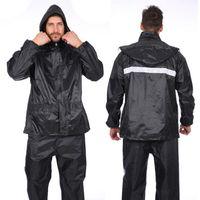 Oeak 1 jeu Costume étanche Hommes Veste de pluie Imperméables extérieur coupe-vent Conjoined Imperméables Salopette Motorcycle Fashion Raincoat