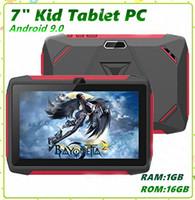 Enfants Marque Tablet PC 7 pouces Q98 Quad Core A33 1024 * 600 écran HD Android 9.0 Allwinner A50 1 Go + 16 Go réel avec Bluetooth PK Q8 MQ10