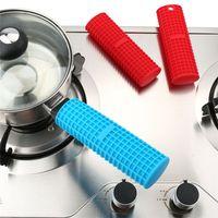 Silicone Hot Pot Holder copertura della maniglia Potholder calore Protezione resistente caldo presina Maniche padelle Pentole maniglia JK2006