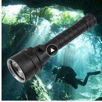 Kohree 방수 다이빙 손전등 충전식 손전등 5 * T6 2.5k 루멘 휴대용 수중 캠핑 램프 랜턴 토치