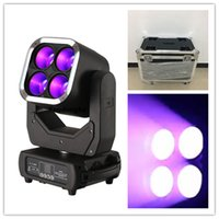 6pcs with fly case rgbw led moving head 4 x 60 w 4 in 1 zoom led moving head lights Super beam led moving head light with zoom