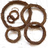 Natuurlijke rotan krans ambachten Kerst voordeur decor krans base grapevine kaars decor cirkels