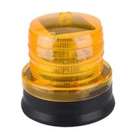 Amarelo Solar Flashing Lamp Strobe LED emergência luz de advertência com base magnética para tráfego de carros Aviso
