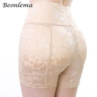 Beonlema cintura alta hip butt enhancer falso ass almofadas bumbum lifter mulheres shapewear mujer modelagem calcinha plus size tamanho m-4xl y19070201