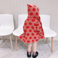 Autumn Winter warm wool apple jacquard dobby baby girls hood...
