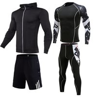 Hommes Vêtements de sport Costume Hommes Courir Ensemble Veste de basket-ball Football Tennis Fitness Shorts Chemises Collants Leggings Vêtements de sport