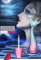 Dropshipping Mermaid Lip Gloss Ibcccndc opaco liquido Rossetto Trucco Silky Lip Gloss kit 20 colori Velvet Lipgloss duraturo Lips bellezza