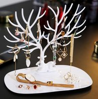 Pulsera colgante ciervos pendientes del collar de la joyería del anillo del soporte de exhibición de la joyería bandeja de almacenamiento Árbol sostenedor del organizador de envío