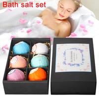 6 pcs Sal De Banho Bombas Bola Sabonete Cuidados Com A Pele SPA Clareamento Umidade de Relaxamento Presente Mulheres Limpeza Do Corpo Cosméticos SetH7JP Banho De Sal C18112001