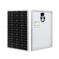 100 watt Pannello solare monocristallino 12V con connettori MC4 Modulo ad alta efficienza Modulo PV per la barca di ricarica della batteria, roulotte, RV e qualsiasi