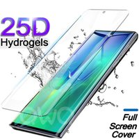 Soft Hydrogel Screen Protector pour Galaxy S21 Ultra Couverture complète Samsung S20 S10E S10 Lite Note 20 10 Plus Film TPU