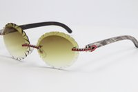 빨간색 큰 돌을 팔고있는 안경 3524012A 검은 꽃 버팔로 경적 태양 안경 대형 라운드 선글라스 블링 아웃 선글라스