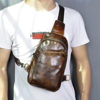 Мужчины сумка грудь кожа качества реальная талия слинг пакет плечо повседневный дизайн Fanny один модный кроссбиривый 8010-C для мужской сумки ofcrf